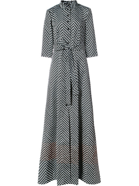 gown women black silk dress