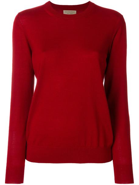 Burberry sweater women red