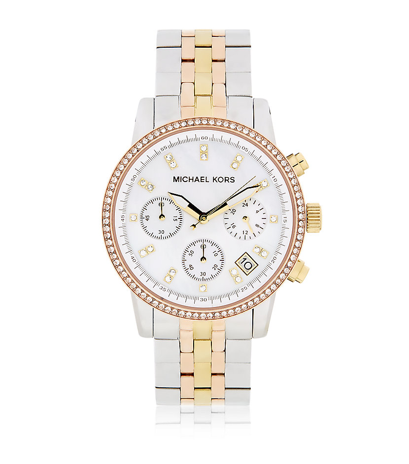 Michael Kors Ritz Chronograph Tricolour Watch