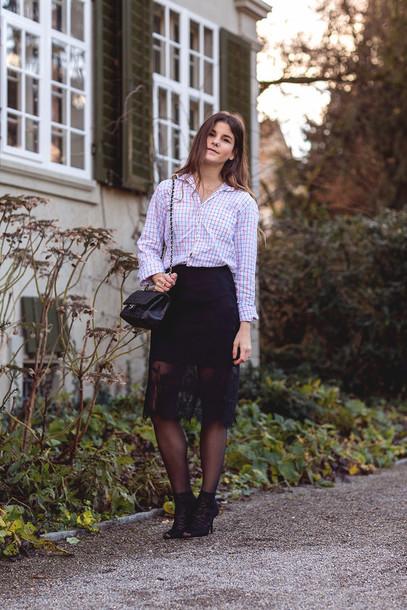 the fashion fraction blogger shirt black skirt lace skirt american vintage coat skirt shoes bag jewels