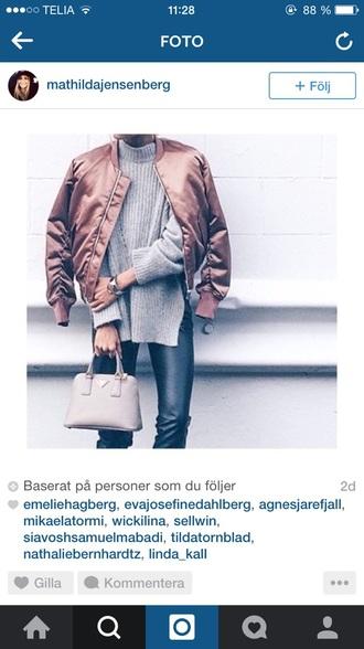 jacket rose gold bomber jacket