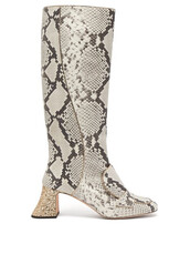 heel,glitter,leather boots,leather,white,shoes