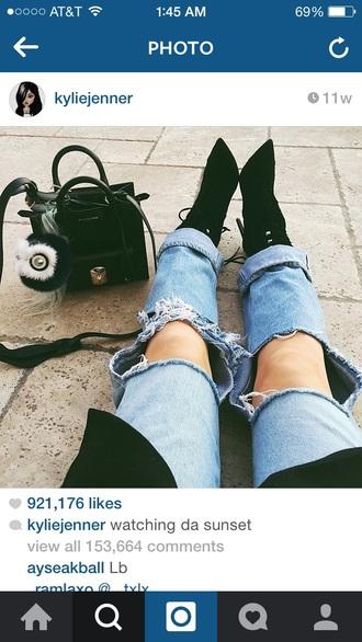 jeans kylie jenner shoes instagram