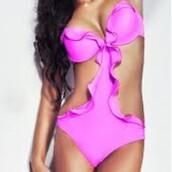 swimwear,purple,sexy,adorn la femme