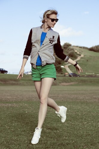 zanita jacket t-shirt shorts sunglasses jewels shoes