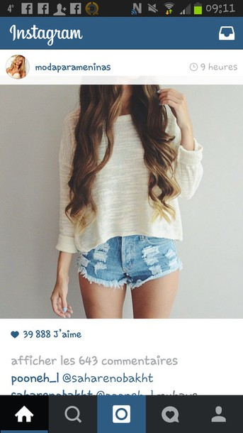 shorts jeans dechired jeans