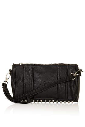 Studded Zip Top Crossbody Bag - Bags & Purses  - Bags & Accessories  - Topshop