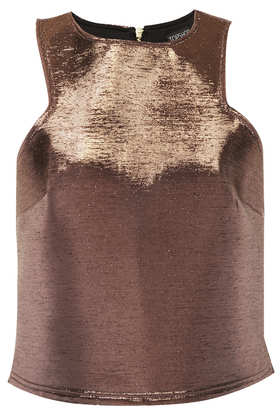 Cutaway Metallic Shell - Sale  - Sale & Offers  - Topshop USA