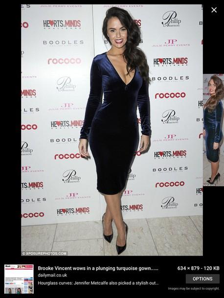bb94a9e00e1 dress midnight blue velvet midi dress bodycon dress long sleeve dress vneck  dress