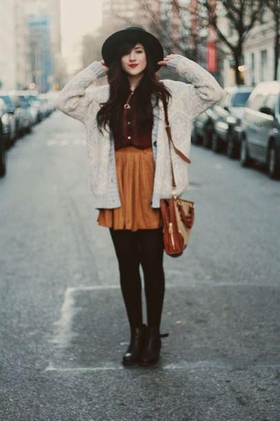 skirt orange skirt\ skater skirt
