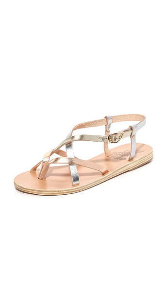 c5cdf6ec4 Ancient Greek Sandals Semele Sandals - Pink Metal/Silver/Platinum ...