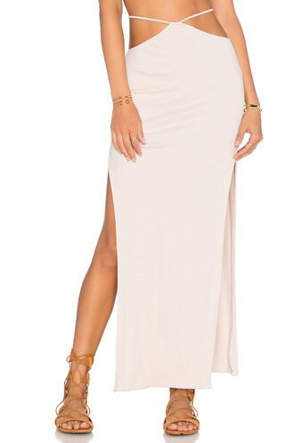 skirt maxi skirt slit maxi skirt maxi high slit beige