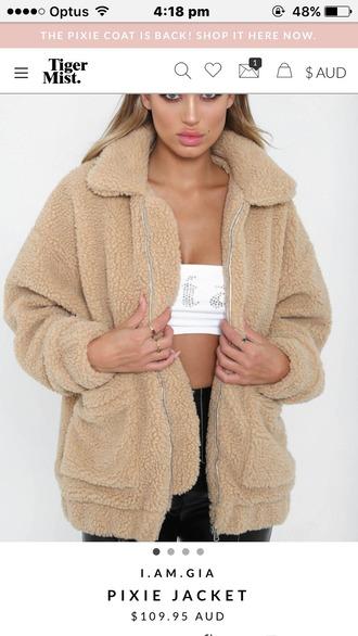 jacket wool coat oversized oversized jacket faux fur jacket