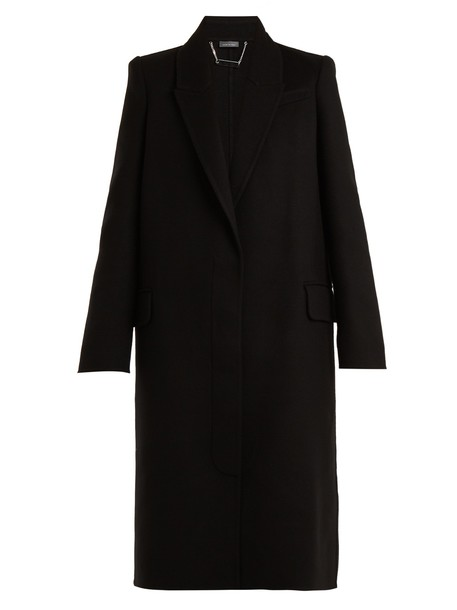 Alexander Mcqueen coat wool black
