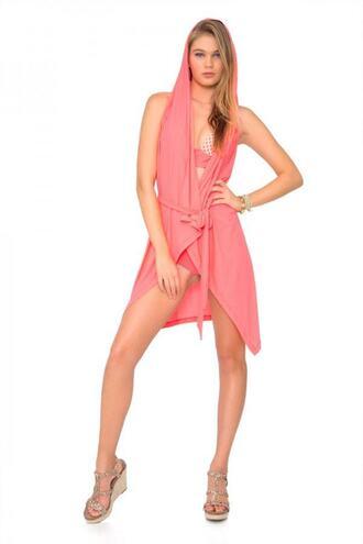 swimwear coral cover up luli fama bikiniluxe