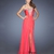 Strapless Sweetheart Jewels Beadings Side Slit Open Back Chiffon Prom Dress PD11453