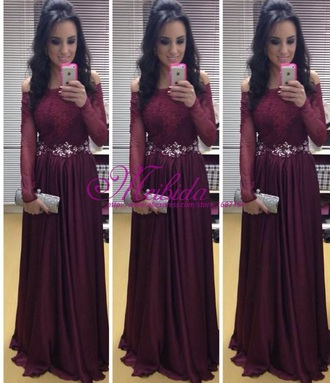 dress burgundy dress prom dress long dress long prom dress long sleeve dress long sleeves burgundy lace dress burgundy lace