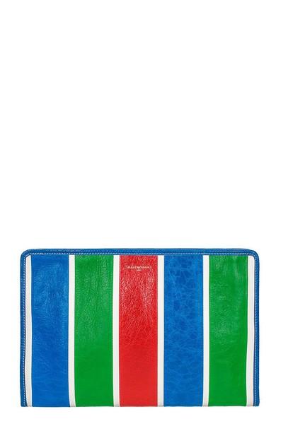 Balenciaga pouch blue bag