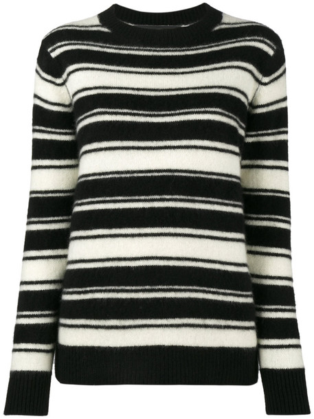 The Elder Statesman - stripey long sleeve jumper - women - Cashmere - S, Black, Cashmere