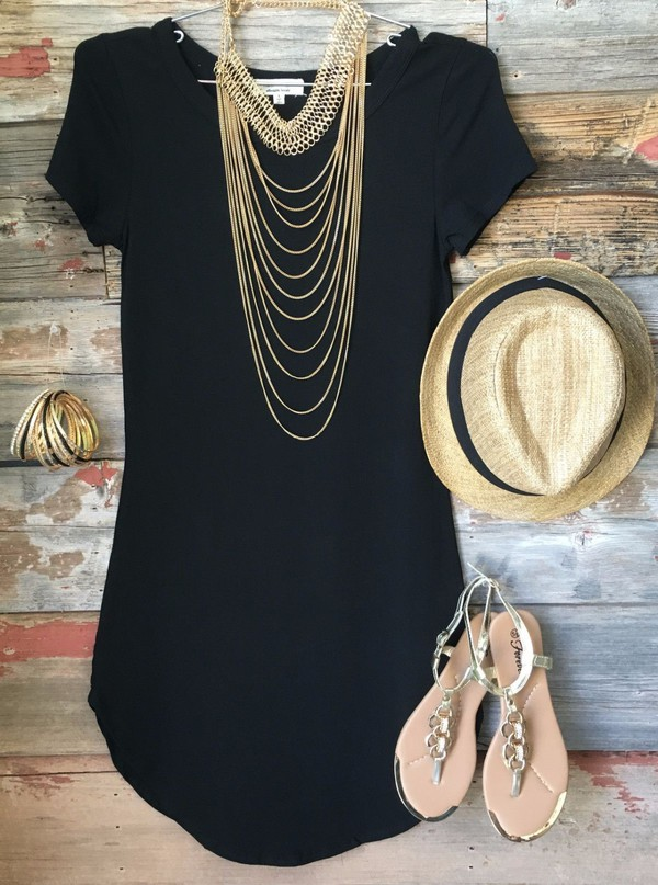 dress black dress mini dress t-shirt dress bags and purses little black dress hat