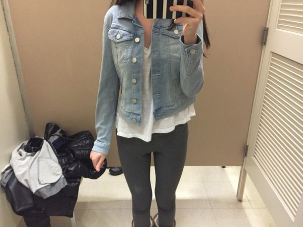 jacket jeans blue jeans white t-shirt maggie lindemann