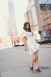 chictalk,blogger,shoes,dress,mules,spring,summer dress