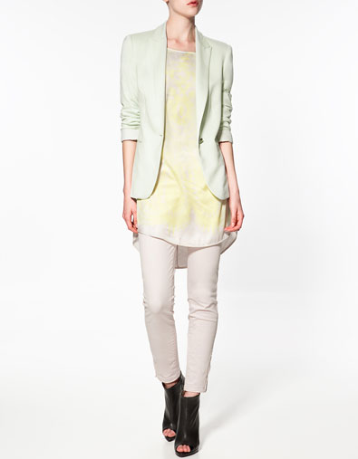 Zara veste femme beige