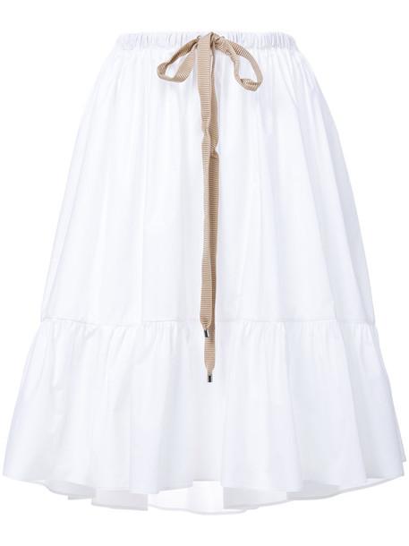 Fendi skirt women white cotton