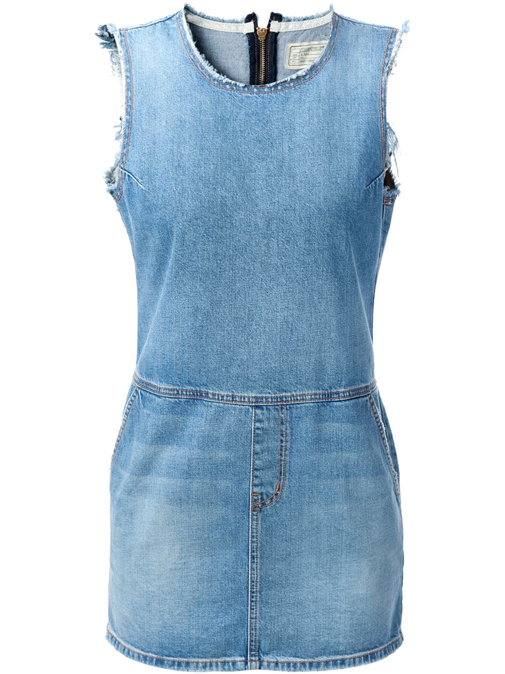 Current/elliott Short Denim Dress - Petra Teufel - Farfetch.com