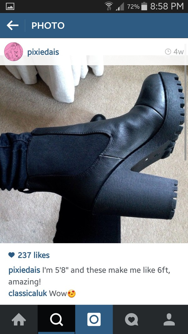 shoes boots heels grunge punk cheslea boots