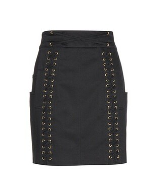 miniskirt embellished cotton black skirt