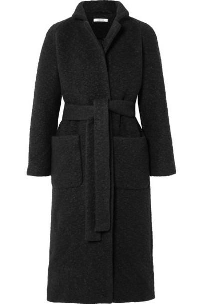 Ganni coat black wool