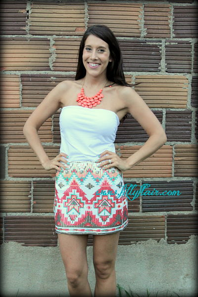 skirt, sequin aztec skirt