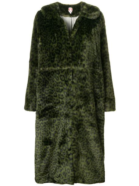 coat leopard print coat women print green leopard print