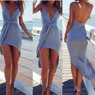 dress grey dress style sundress beach dress wrap dress