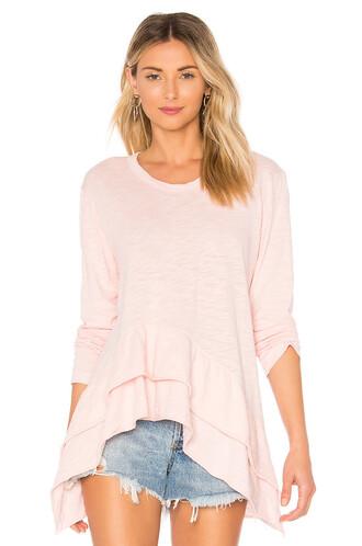 long pink top