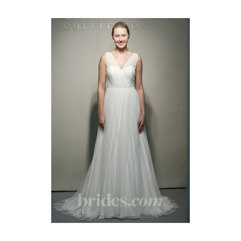 Jenny Yoo - Spring 2013 - Magnolia Sleeveless Organza A-Line Wedding Dress with Criss-Cross V-Neck - Stunning Cheap Wedding Dresses|Prom Dresses On sale|Various Bridal Dresses