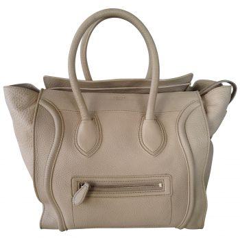 Sac porté main céline luggage beige cuir d'occasion réf. a76060