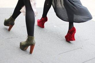 shoes heels red high heels