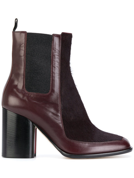 Paul Smith hair women boots ankle boots leather suede brown shoes