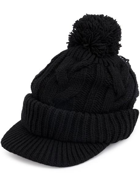 bobble hat hat black knit