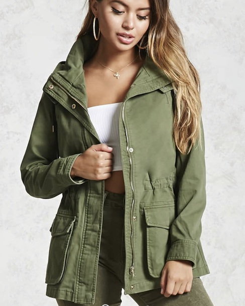 jacket olive green
