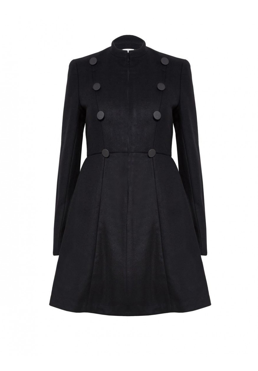 alice   olivia | COHEN FLARE MILITARY COAT