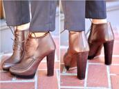 high heels,leather,brown shoes,shoes