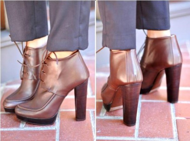 high heels leather brown shoes shoes