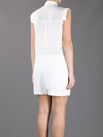 T By Alexander Wang Sheer Silk Romper Suit -  - Farfetch.com