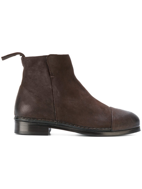 Measponte women leather suede brown shoes