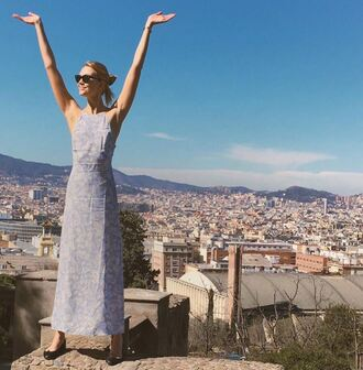 dress maxi dress karlie kloss summer dress instagram flats ballet flats shoes