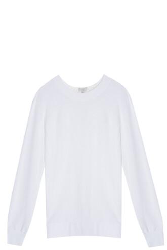 sweater back silk white