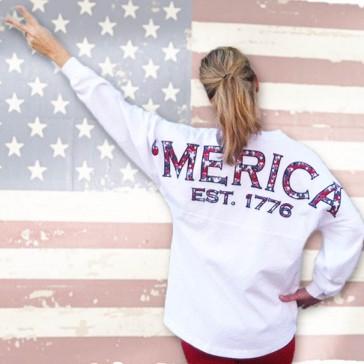 'merica {preppy print} spirit football jersey®